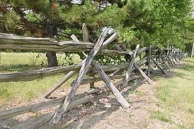 split rail fence depiction